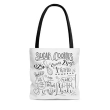 Load image into Gallery viewer, (b) Sugar Cookie Recipe AOP Tote Bag