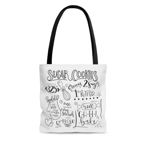 (b) Sugar Cookie Recipe AOP Tote Bag