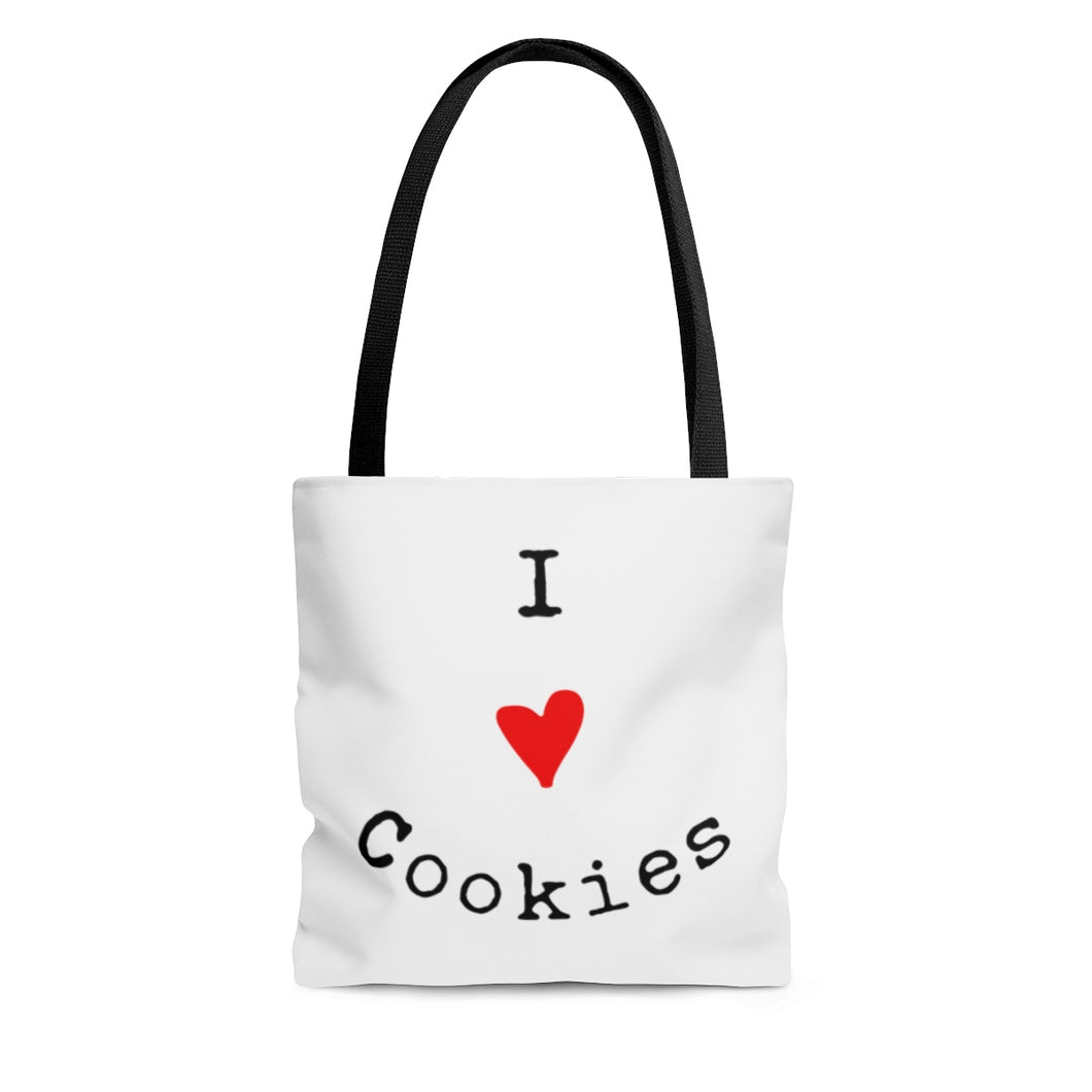 I Love Cookies AOP Tote Bag