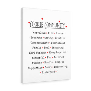 Cookie Community Canvas Gallery Wrap