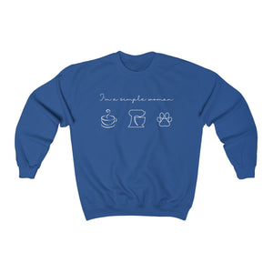 I'm A Simple Woman  Gildan 18000 Unisex Heavy Blend™ Crewneck Sweatshirt