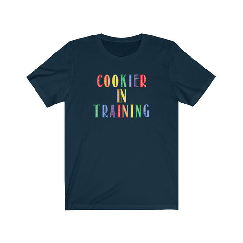 (a) Cookier in Training-Color Cookie Bella+Canvas 3001 Unisex Jersey Short Sleeve Tee