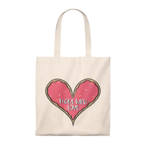 (b) Made With Love Pink Heart Tote Bag - Vintage