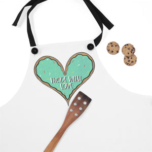 (b) Made With Love Green Heart Apron