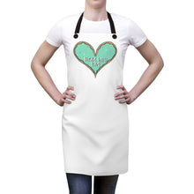 Load image into Gallery viewer, (b) Made With Love Green Heart Apron