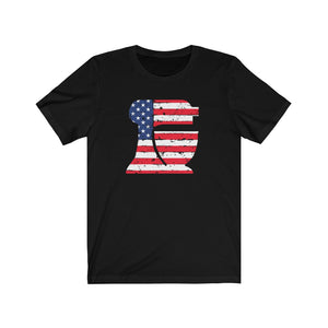 American Flag Kitchen Mixer Bella+Canvas 3001 Unisex Jersey Short Sleeve Tee