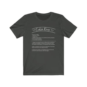 (b) Cookier Recipe Bella+Canvas 3001 Unisex Jersey Short Sleeve Tee