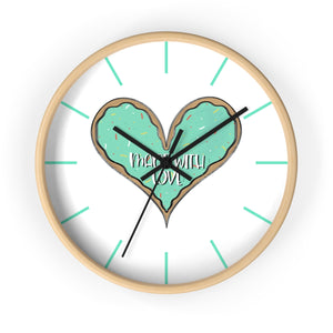 (b) Made With Love Green Heart Wall Clock
