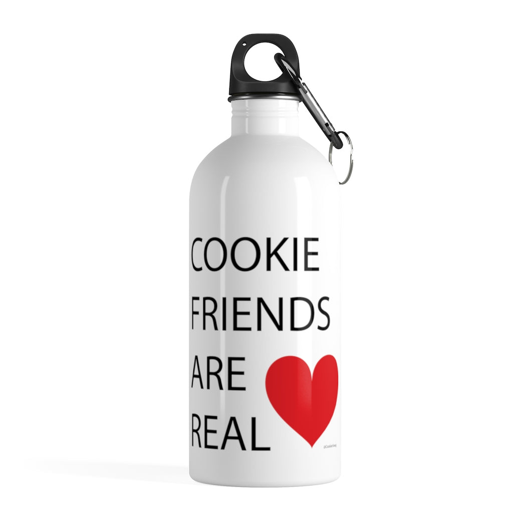 Cookie Friends Are Real Stainless Steel Water Bottle