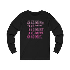 Pink Ombre Kitchen Mixer Bella+Canvas 3501 Unisex Jersey Long Sleeve Tee