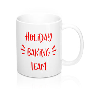 Holiday Baking Team Red Mug