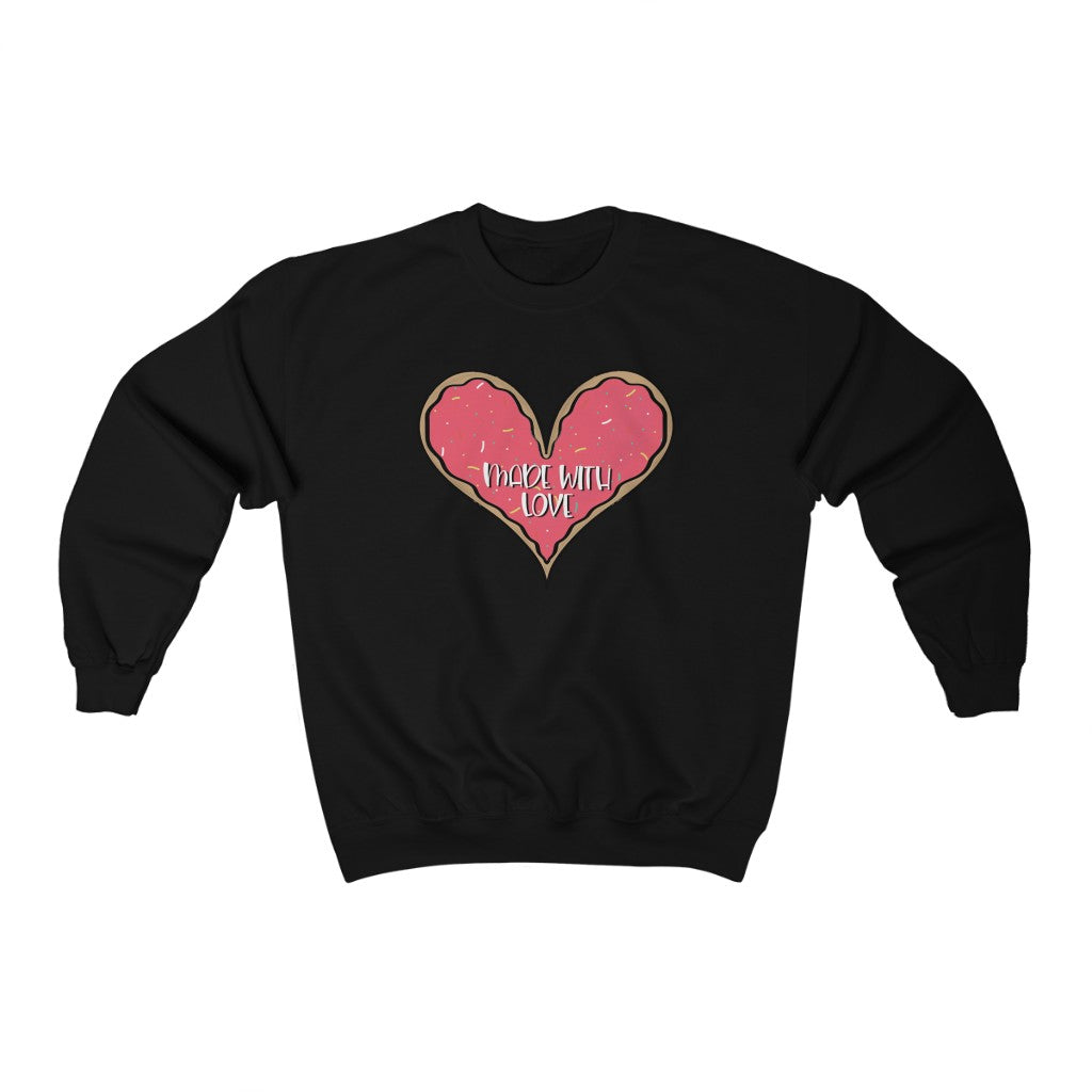 Made With Love Pink Heart Sweatshirt