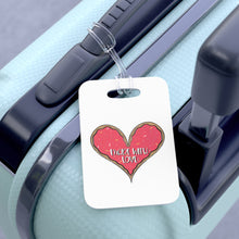 Load image into Gallery viewer, (b) Made With Love Pink Heart Bag Tag