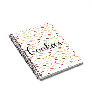 Cookies with Sprinkles Spiral Notebook - Ruled Line