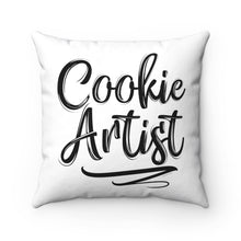 Load image into Gallery viewer, Cookie Artist Spun Polyester Square Pillow