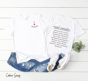 I Love Cookies/Cookie Community Bella+Canvas 3001 Unisex Jersey Short Sleeve Tee