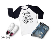 Load image into Gallery viewer, Cookie Cutter Collector Bella+Canvas 3200 Unisex 3/4 Sleeve Baseball Tee