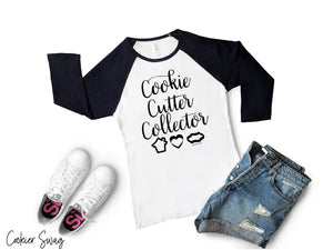 Cookie Cutter Collector Bella+Canvas 3200 Unisex 3/4 Sleeve Baseball Tee