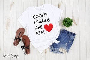 Cookie Friends are Real Bella+Canvas 3001 Unisex Jersey Short Sleeve Tee
