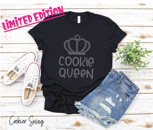 Limited Edition Cookie Queen Crystal Rhinestone Design Tee