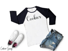 Load image into Gallery viewer, Cookier Bella+Canvas 3200 Unisex 3/4 Sleeve Baseball Tee