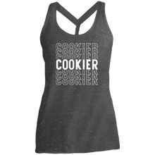 Load image into Gallery viewer, (a) Cookier Repeating DM466 Ladies' Cosmic Twist Back Tank