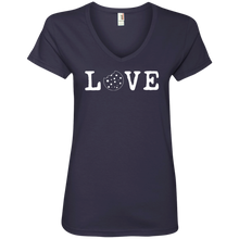 Load image into Gallery viewer, Love Anvil 88VL Ladies' V-Neck T-Shirt