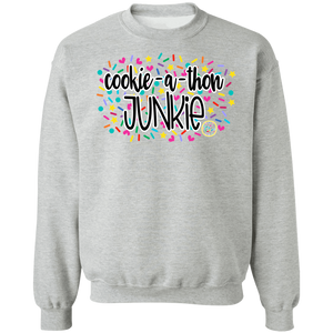(a) Cookie-a-thon Junkie Crewneck Pullover Sweatshirt