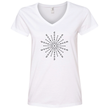Load image into Gallery viewer, Cookies Mandala (Black) 88VL Anvil Ladies' V-Neck T-Shirt