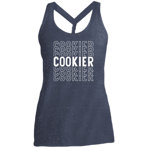 (a) Cookier Repeating DM466 Ladies' Cosmic Twist Back Tank
