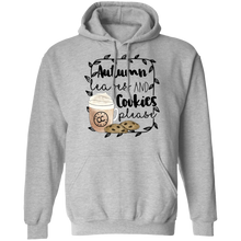 Load image into Gallery viewer, (a) Autumn Leaves and Cookies Please Pullover Hoodie