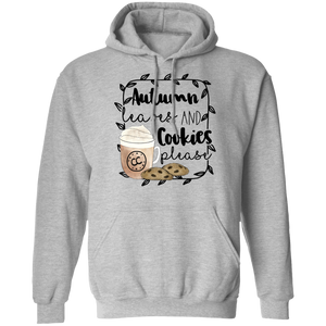(a) Autumn Leaves and Cookies Please Pullover Hoodie