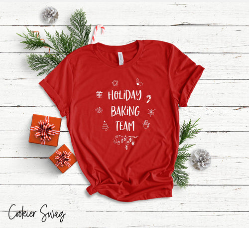 Holiday Baking Team Bella+Canvas 3001 Unisex Jersey Short Sleeve Tee