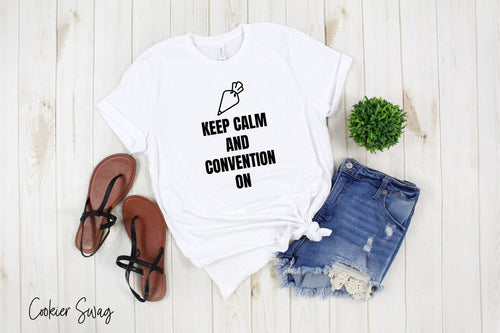 Keep Calm and Convention On Bella+Canvas 3001 Unisex Jersey Short Sleeve Tee