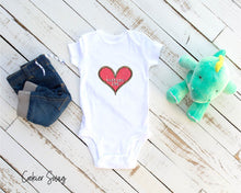 Load image into Gallery viewer, (b) Made With Love Pink Heart Infant Rip Snap Tee