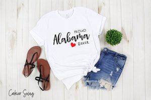Proud Alabama Baker Bella+Canvas 3001 Unisex Jersey Short Sleeve Tee