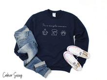 Load image into Gallery viewer, I'm A Simple Woman  Gildan 18000 Unisex Heavy Blend™ Crewneck Sweatshirt
