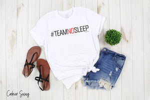Team No Sleep Bella+Canvas 3001 Unisex Jersey Short Sleeve Tee