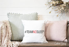 Load image into Gallery viewer, Team No Sleep Spun Polyester Square Pillow