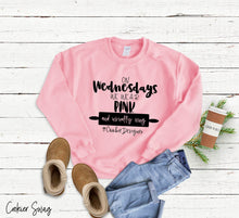 Load image into Gallery viewer, (a) On Wednesdays We Wear Pink Unisex Heavy Blend™ Crewneck Sweatshirt