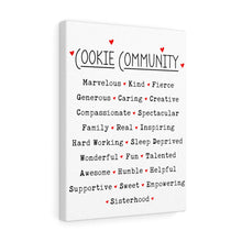 Load image into Gallery viewer, Cookie Community Canvas Gallery Wrap