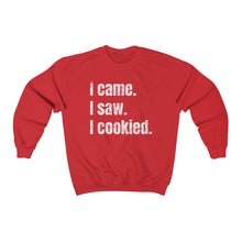 Load image into Gallery viewer, I Came. I Saw. I Cookied. Gildan 18000 Unisex Heavy Blend™ Crewneck Sweatshirt