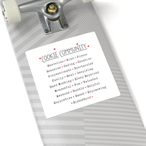 Cookie Community Square Sticker