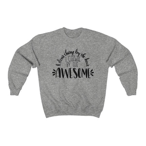(a) I Charge By The Awesome Unisex Heavy Blend™ Crewneck Sweatshirt