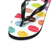 Load image into Gallery viewer, Macarons Unisex Flip-Flops