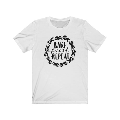 (a) Bake Frost Repeat Bella+Canvas 3001 Unisex Jersey Short Sleeve Tee