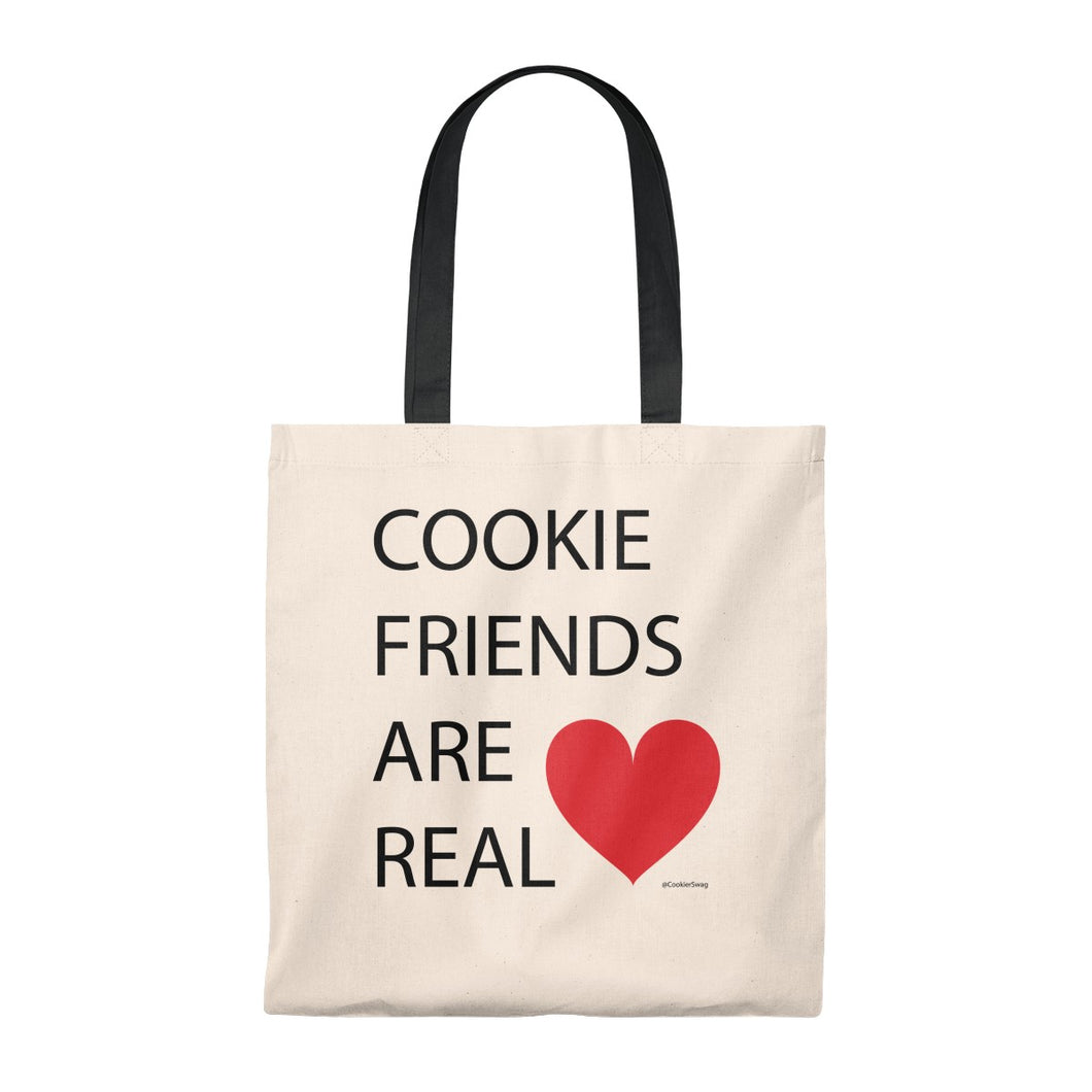 Cookie Friends Are Real Tote Bag - Vintage
