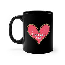 Load image into Gallery viewer, (b) Made With Love Pink Heart Black Mug