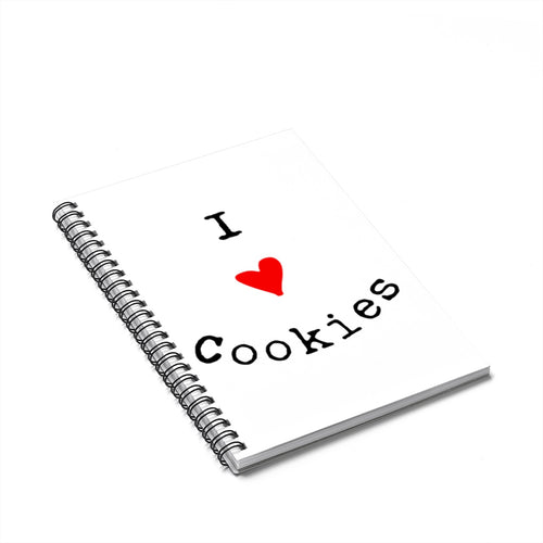 I Love Cookies Spiral Notebook - Ruled Line