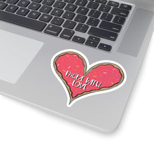Load image into Gallery viewer, (b) Made With Love Pink Heart Kiss-Cut Sticker